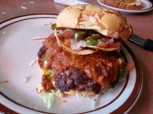 dennys - Macho Nacho Burger