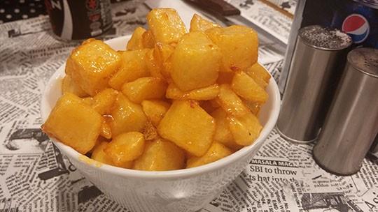 הום פרייז של בורגר פוינט- קוביות תפוחי אדמהמטוגנים