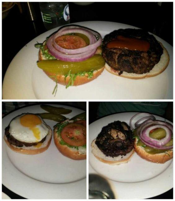 המבורג - המבורגר ברחובות עם ביצת עין