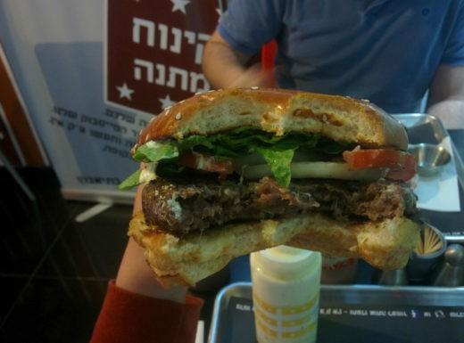 קציצת המבורגר מדיום של ברברי קריית אתא - טעים!