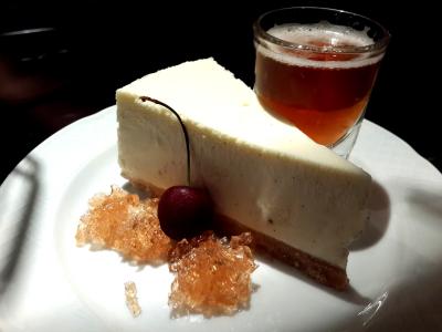 עוגת גבינה וג'ל של בירה - פורטר אנד סאנס