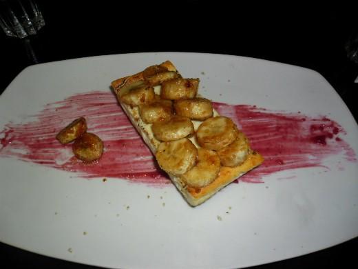 עוגת גבינה ובננה של ברביס