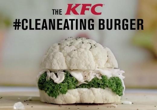 kfc burger clean