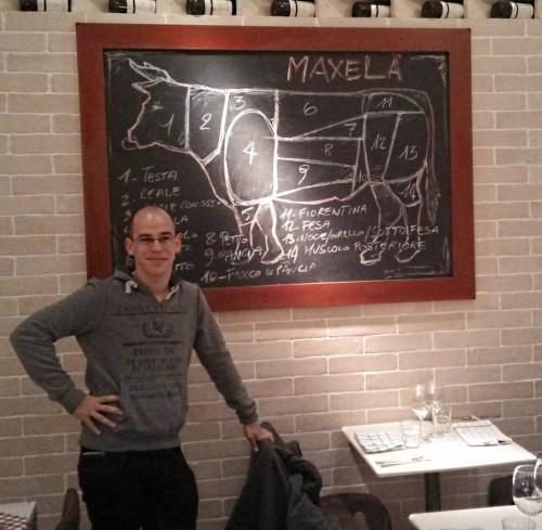 אור בלאן במסעדת Maxela רומא