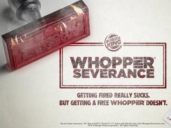 WhopperSeverance של ברגר קינג