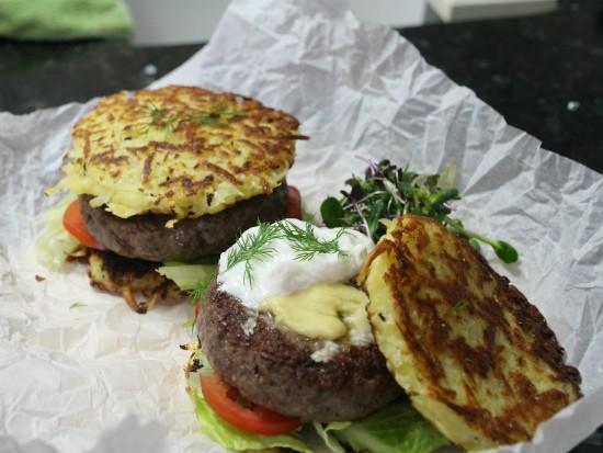 מתכון המבורגר חנוכה - קציצה+לביבה
