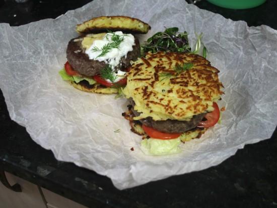 המבורגר חנוכה - התוצאה הסופית