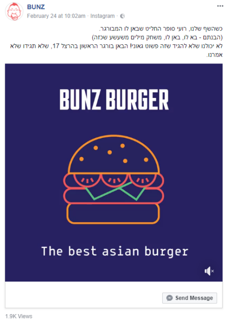 BUNZ מציגים - ה-BUNZ בורגר
