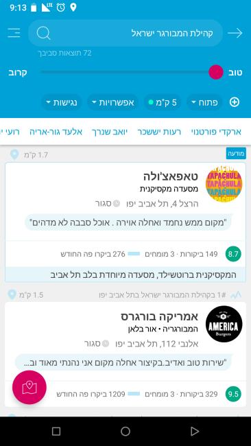 קהילת המבורגר ישראל באפליקצייה של easy