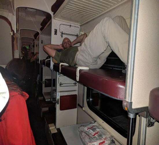 אור שוחט ברכבת הטראנס סיבירית