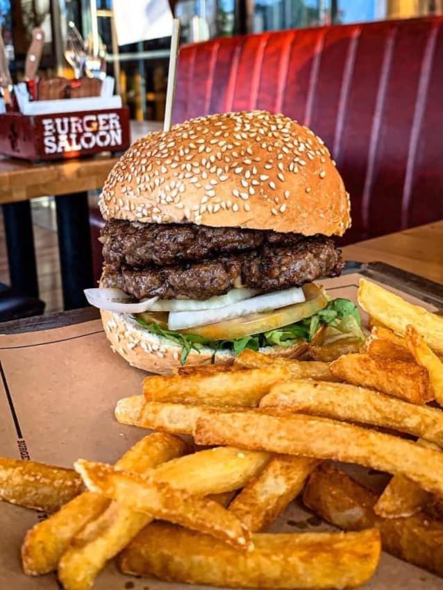 """המבורגר דוגמן של בורגר סאלון, מקור:יח""""צ"""