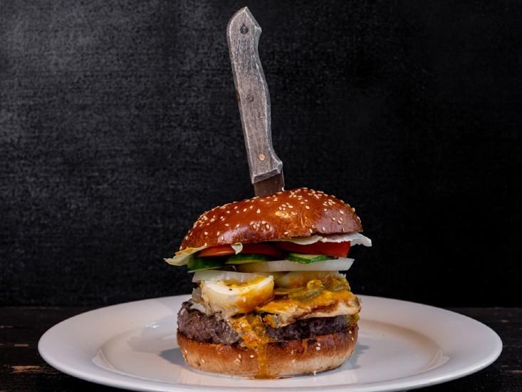 """המבורגר סביח של אגאדיר, מקור: יח""""צ"""